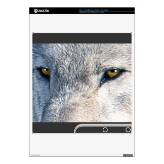 Grey Wolf Animal Eyes 2 Playstation 3 Skin PS3 Slim Skins