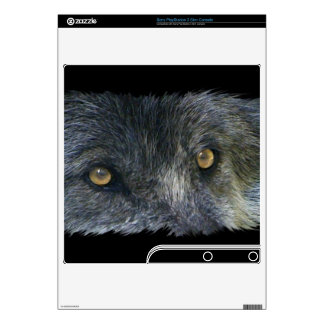 Grey Wolf Animal Eyes 3 Playstation 3 Skin Decal For The PS3 Slim