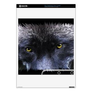 Grey Wolf Animal Eyes Playstation 3 Skin Skins For PS3 Slim
