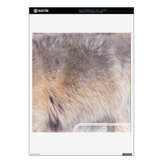 Grey Wolf Animal Fur Playstation 3 Skin Decal For The PS3 Slim