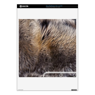 Grey Wolf Animal Fur Playstation 3 Skin Decals For The PS3 Slim