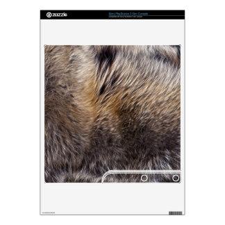 Grey Wolf Animal Fur Playstation 3 Skin PS3 Slim Decal