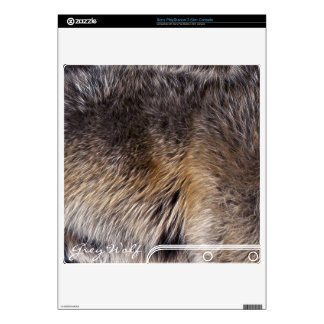 Grey Wolf Animal Fur Playstation 3 Skin Skin For PS3 Slim