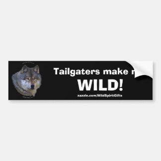 GREY WOLF Anti-Tailgater Bumper Sticker