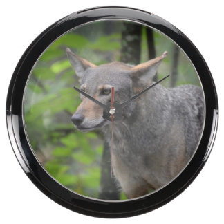 Grey Wolf Aquavista Clock