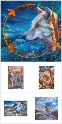 GREY WOLF * ARCTIC WOLF * MEXICAN RED WOLF