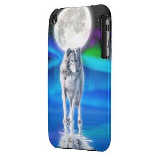 Grey Wolf Aurora Moon iPhone 3 Case