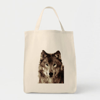 Grey Wolf Tote Bags