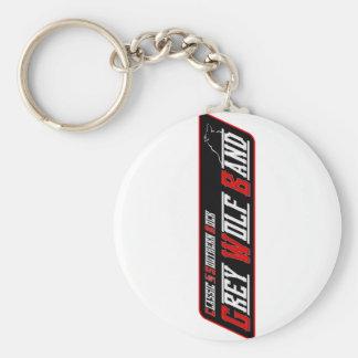 Grey Wolf Band Keychain