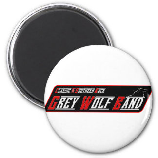 Grey Wolf Band Magnet