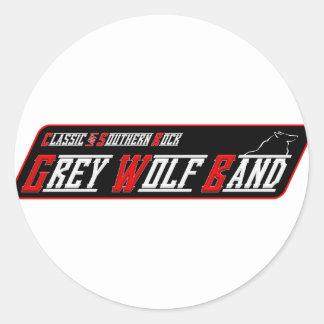 Grey Wolf Band Sticker