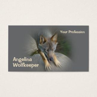 Grey wolf business card