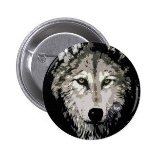 Grey Wolf Button
