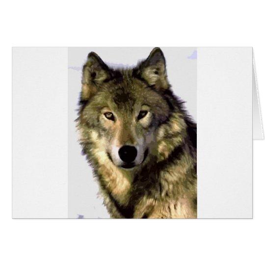 Grey Wolf Card