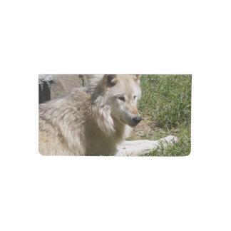Grey Wolf Checkbook Cover
