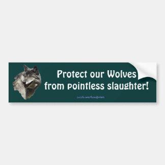 Grey Wolf Conservation Bumper Sticker