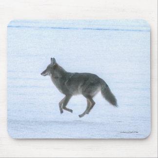 Grey Wolf Crossing Frozen Lake 4 #Gift Mousepad