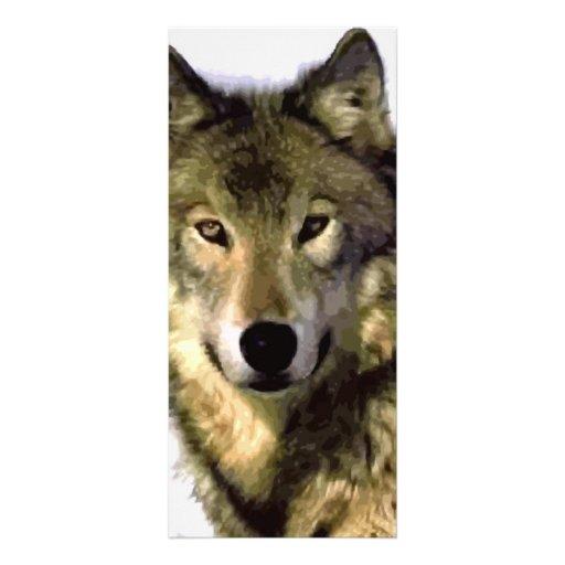 Grey Wolf Custom Rack Card