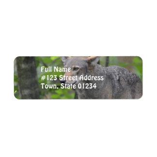 Grey Wolf Custom Return Address Label