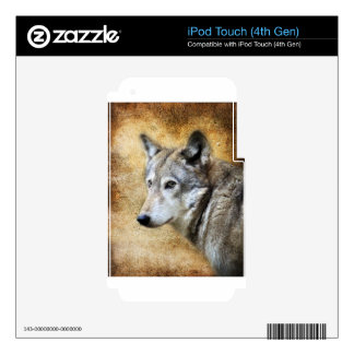 Grey Wolf Decals For iPod Touch 4G