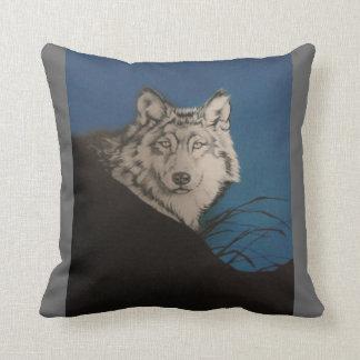 """""""Grey Wolf"""" design Pillow"""