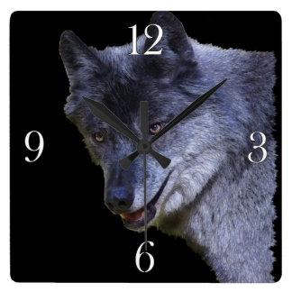 Grey Wolf Design Wildlife-lover Photo Clock