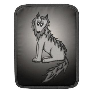 grey wolf dog ipod sleeve sleeve for iPads