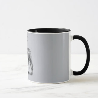 'Grey wolf drawing' Mug