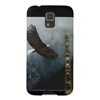 Grey Wolf, Eagle & Haida Totem Pole Native Art Cases For Galaxy S5