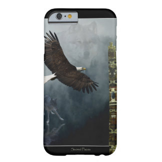 Grey Wolf, Eagle & Haida Totem Pole Native Art Barely There iPhone 6 Case