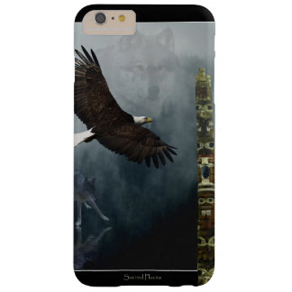 Grey Wolf, Eagle & Haida Totem Pole Native Art Barely There iPhone 6 Plus Case