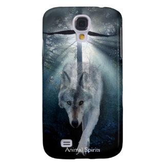 Grey Wolf Eagle Wildlife Spirits Samsung Galaxy S4 Cover