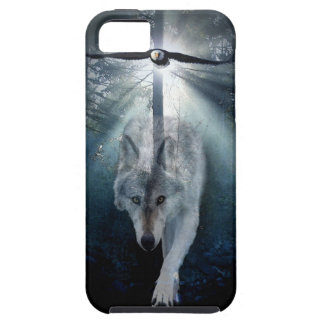 Grey Wolf & Eagle Wildlife Spirits iPhone 5 Cover