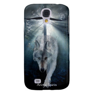 Grey Wolf & Eagle Wildlife Spirits Samsung Galaxy S4 Cover