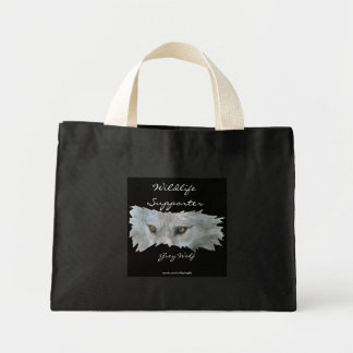 GREY WOLF EYES Carry-Bag Collection Mini Tote Bag