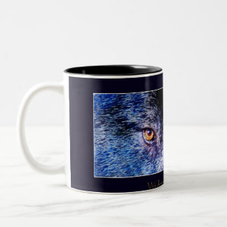 Grey Wolf Eyes Coffee Mug