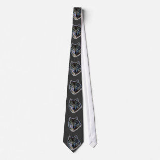Grey Wolf Eyes Freedom Leadership Neck Tie