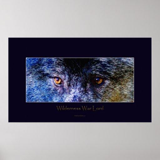 Grey Wolf Eyes III Art Poster