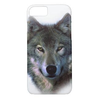 Grey Wolf Eyes iPhone 7 Case