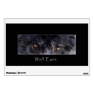 Grey Wolf Eyes Wildlife Animal Photo Wall Sticker