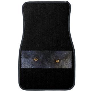 Grey Wolf Eyes Wildlife Art Car Mat