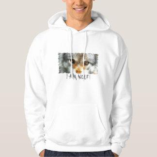 GREY WOLF EYES Wildlife Art Hoodie