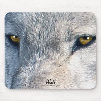 Grey Wolf Eyes Wildlife Art Mousemat Mouse Pad