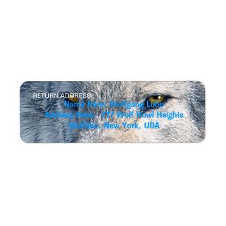 GREY WOLF EYES Wildlife Return Address Labels