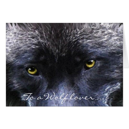 GREY WOLF EYES Wildlife Supporter blank card
