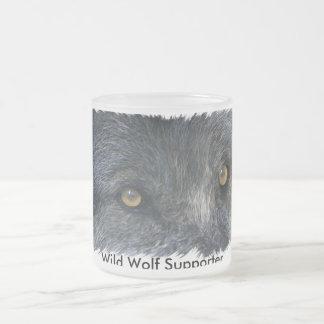 GREY WOLF EYES Wildlife Supporter Drinkware Coffee Mug