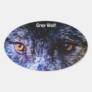 GREY WOLF EYES Wildlife Supporter Stickers