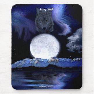 Grey Wolf & Fantasy Art Design Mouse Pad
