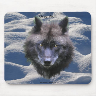 Grey Wolf Fantasy Art Wildlife-lover Mouse Pad