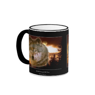 Grey Wolf & Forest Moon Mug
